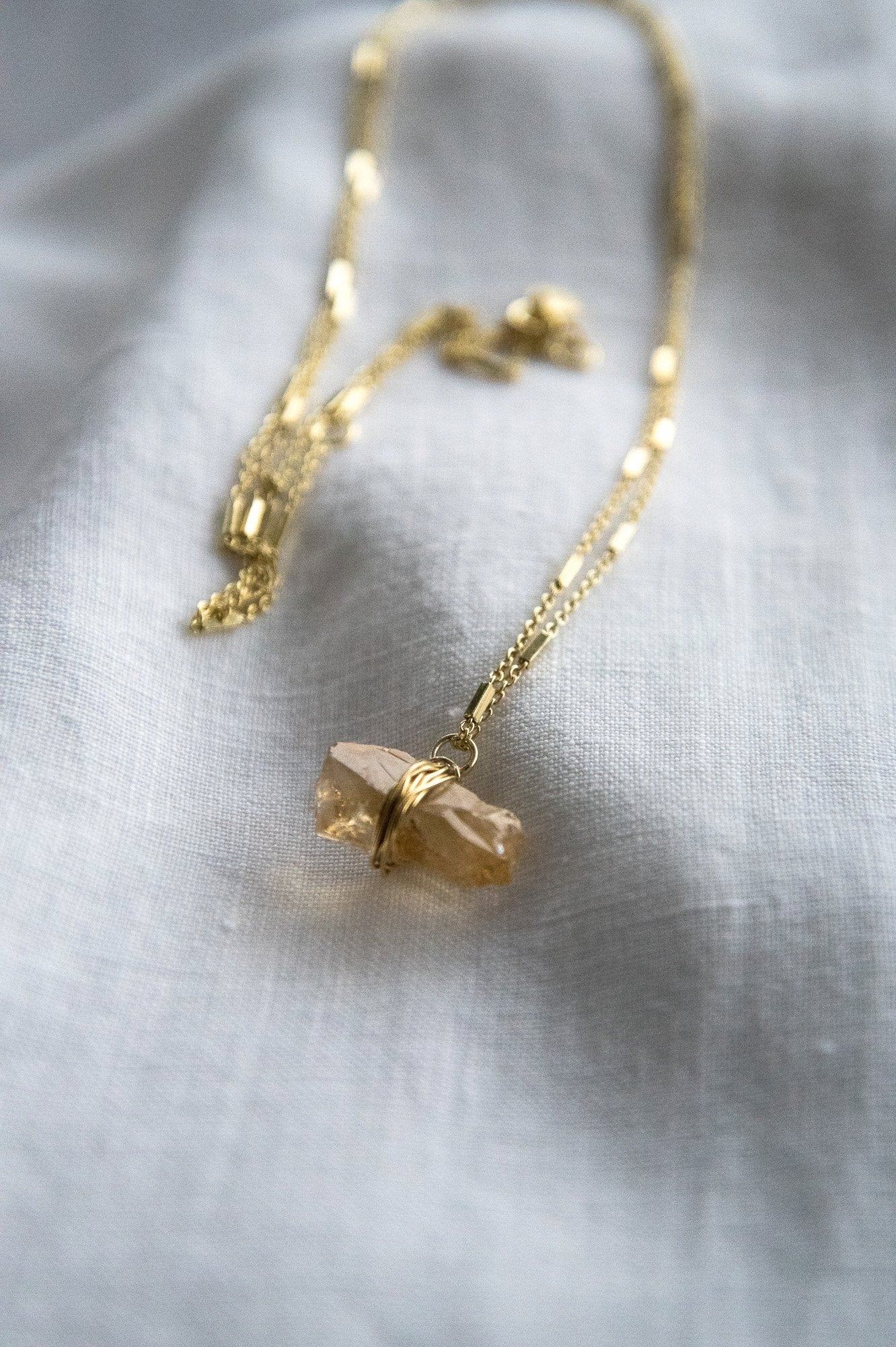 Citrine Gold Necklace