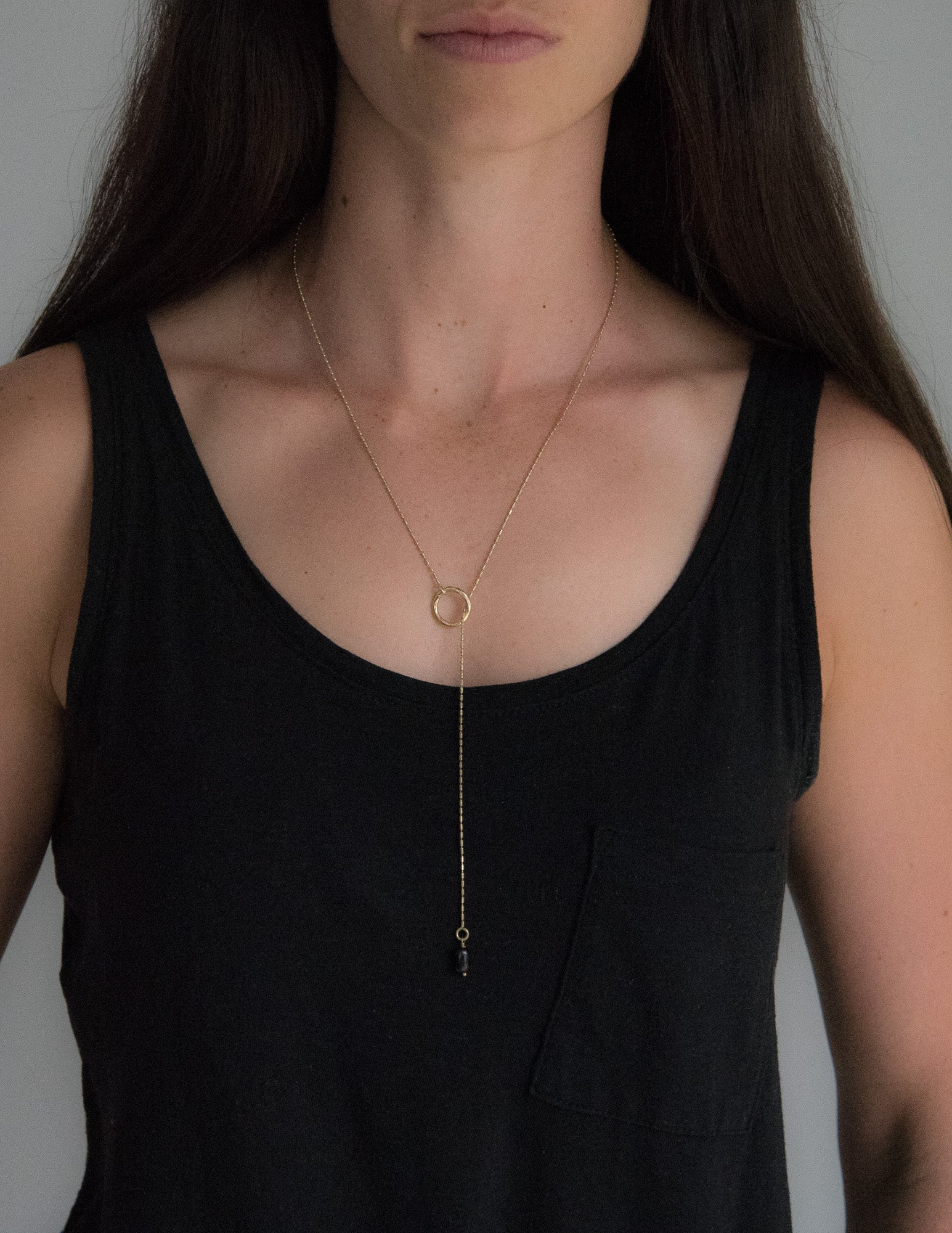 Black Onyx Gold Necklace