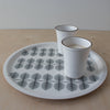 Berså Fika Tray - Grey - Handcrafted Home Goods - Atelier Meipel