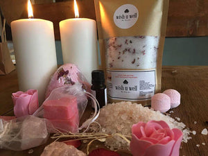 Bath Salts,Relaxation Gift, Rose Bath Salts, Self - Dalia's Online Shop