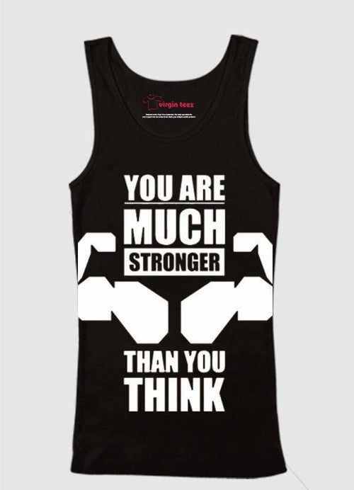 You Are Much Stronger Printed Tank Top - Dalia's Online Shop