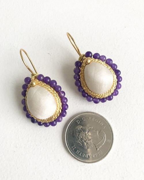 Handcrafted Earrings - Tan Drop - Dalia's Online Shop