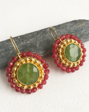 Handcrafted Earrings - So Green - Dalia's Online Shop