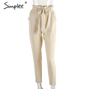 Chiffon High Waist Women Harem Pants