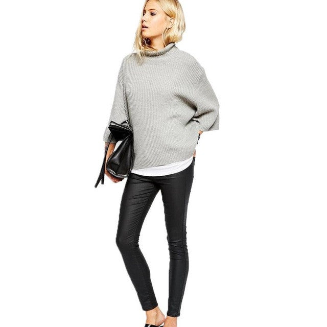 Women Autumn Fashionable High Neck Pullover - Dalia's Online Shop