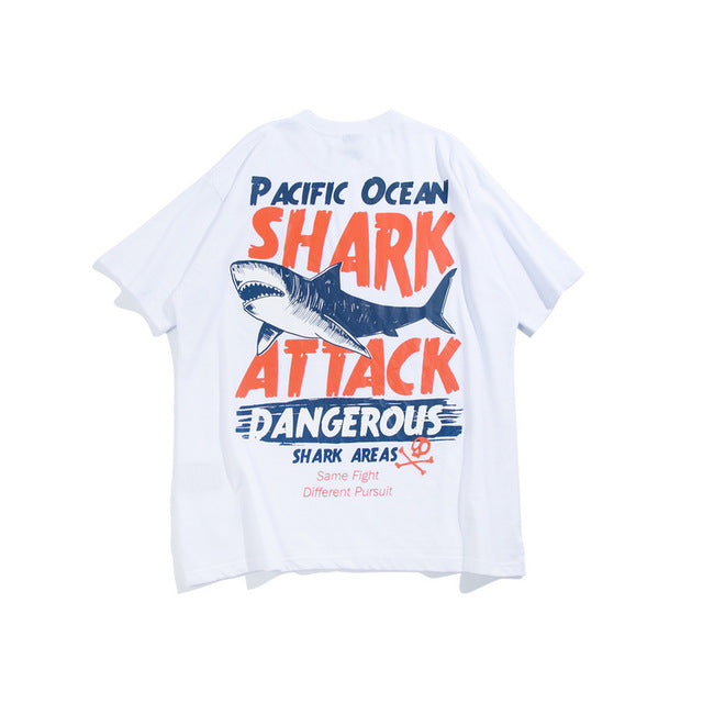 Shark Attack Printed Tee - Dalia's Online Shop