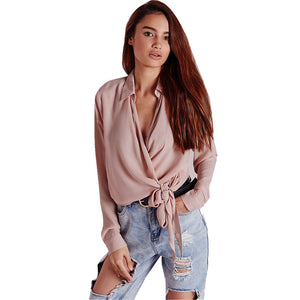 Women High Quality Blouse Sexy Office Lady - Dalia's Online Shop