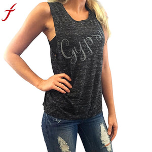 Summer T-shirt Women GYPSY Letters Pattern T-Shirt - Dalia's Online Shop