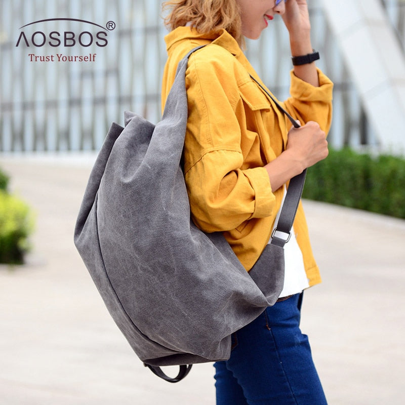 Slouch Multifunction Canvas Gym Bag - Dalia's Online Shop