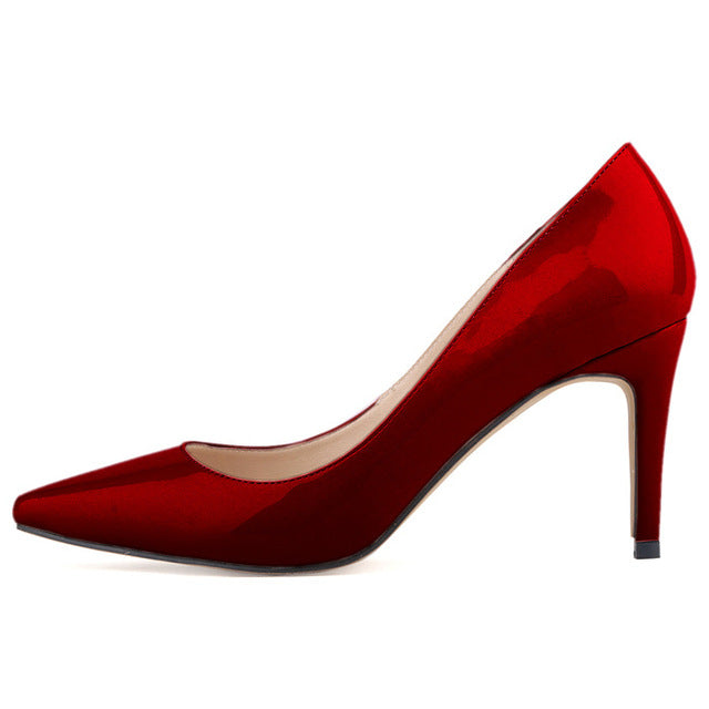 New Fashion Star Pointed Toe Solid High Heels Shoes - Dalia's Online Shop