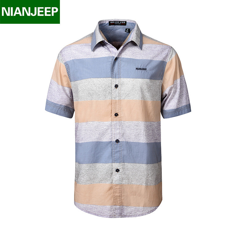 100% Cotton Striped Breathable Shirt Men - Dalia's Online Shop