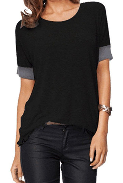 Comfy Loose Fit Short Cotton T-Shirt - Dalia's Online Shop