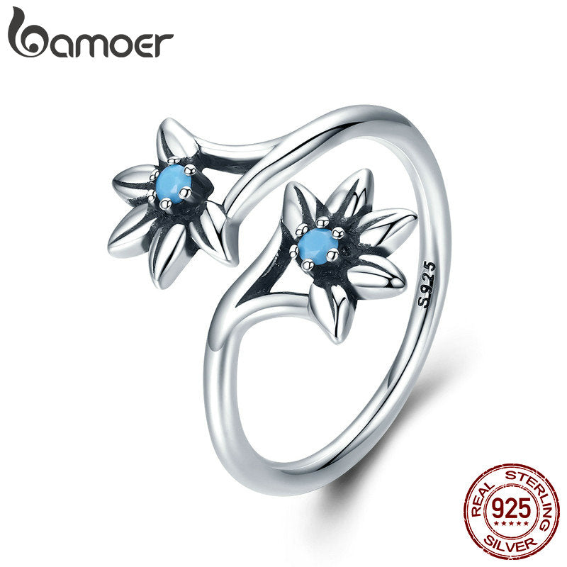 High Quality Silver Daisy Flower Female Ring With Adjustable Size - Dalia's Online Shop