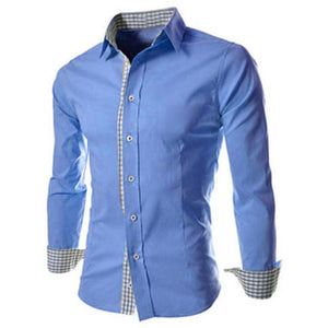 Men's Plaid Long Sleeve Shirt - Dalia's Online Shop