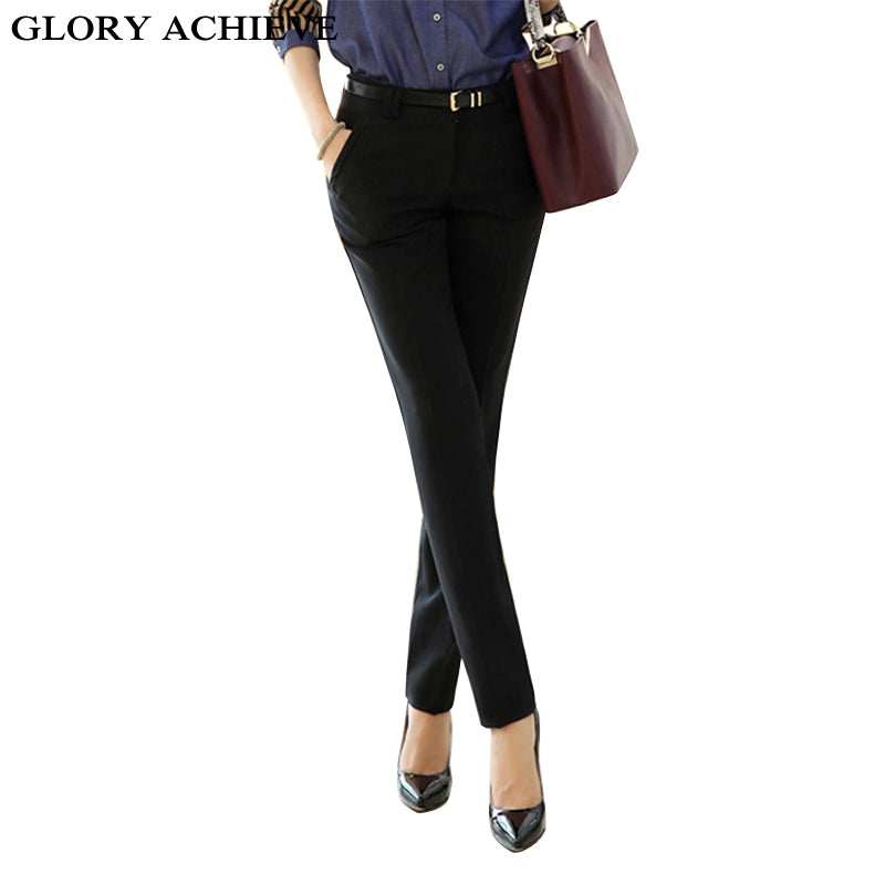 Mid-Waist Fashion Pencil Pants for Women - Dalia's Online Shop