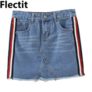 Flectit Women A-line Blue Denim Skirt - Dalia's Online Shop