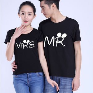Mr. & Mrs. Couple Men/Women T Shirt Print Cotton - awesometeeshirts.com