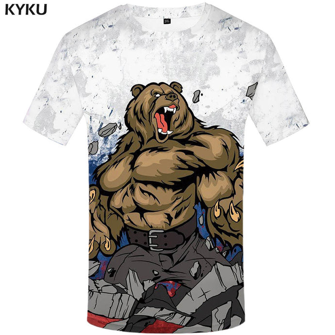 3d Bear Fitness Men T-Shirt - awesometeeshirts.com