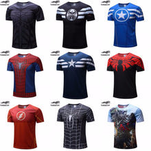 Men Fitness Polyester T-shirts/Superman/Batman/Spider man/Captain America /Hulk/Iron Man/Comes in all sizes