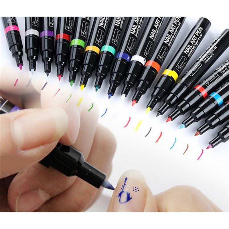 Nail Art Design Pen Tool 16 Colors My Dude Store