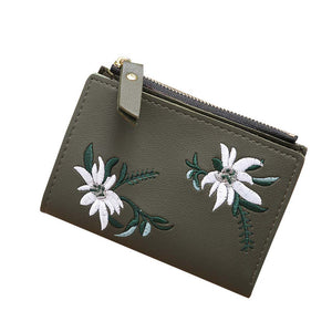 MEG Embroidery Zipper Clutch