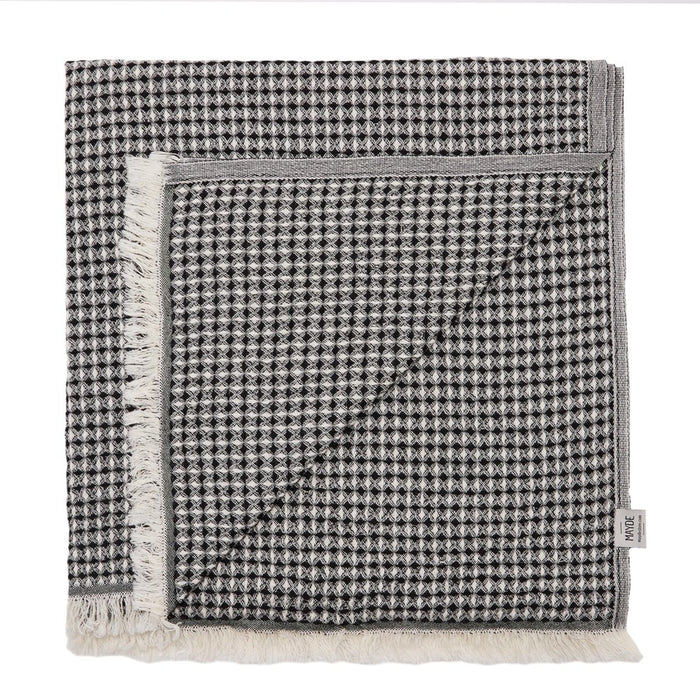 LENNOX TOWEL - BLACK/BEIGE