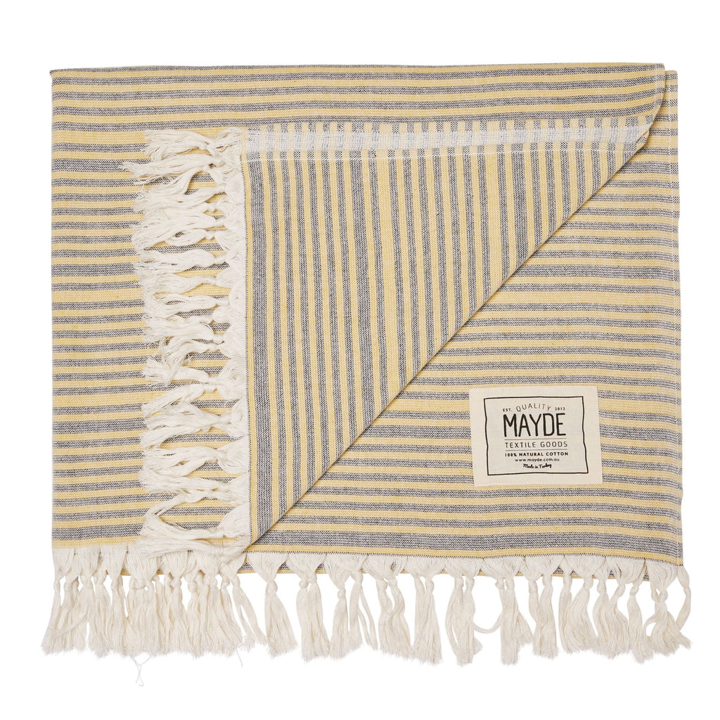 The Mayde Australia Turkish towels travel product recommended by Kelley on Lifney.