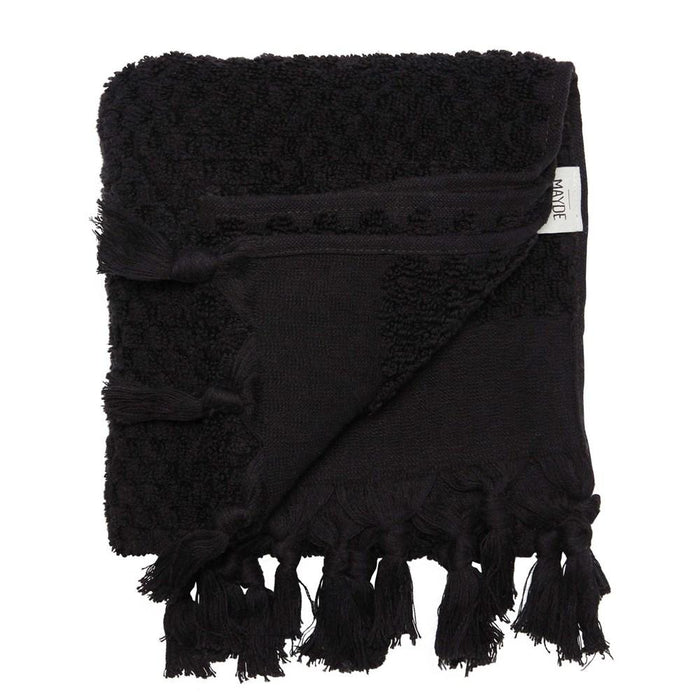 RAINBOW SOLID HAND TOWEL - BLACK