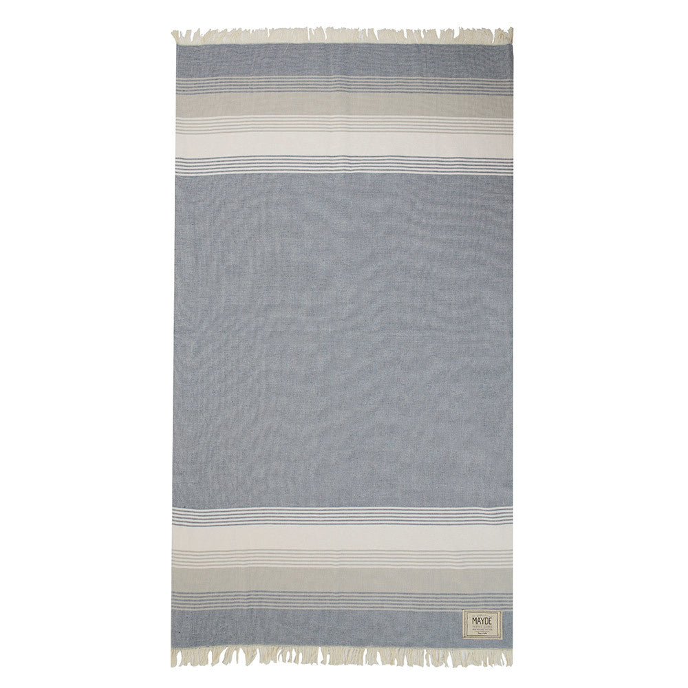 JERVIS TOWEL - NAVY & WHITE