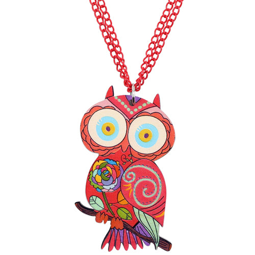 Acrylic owl necklace bird pendant chain choker animal unique fashion acrylic owl necklace bird pendant chain choker animal unique fashion jewelry for women girls wholesale accessories aloadofball Image collections