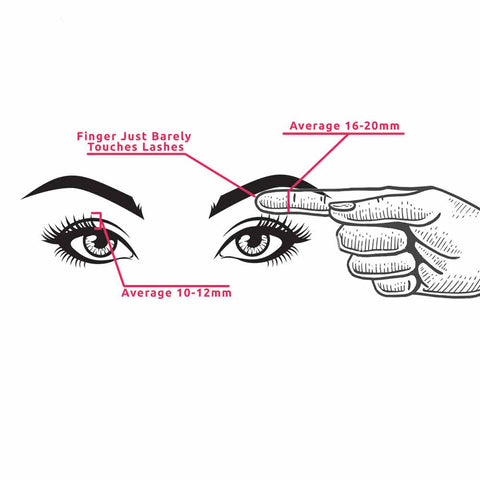 How to see if you can wear big lashes