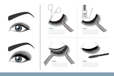 strip lashes vs individual lashes and how easy they are to apply 4 total steps