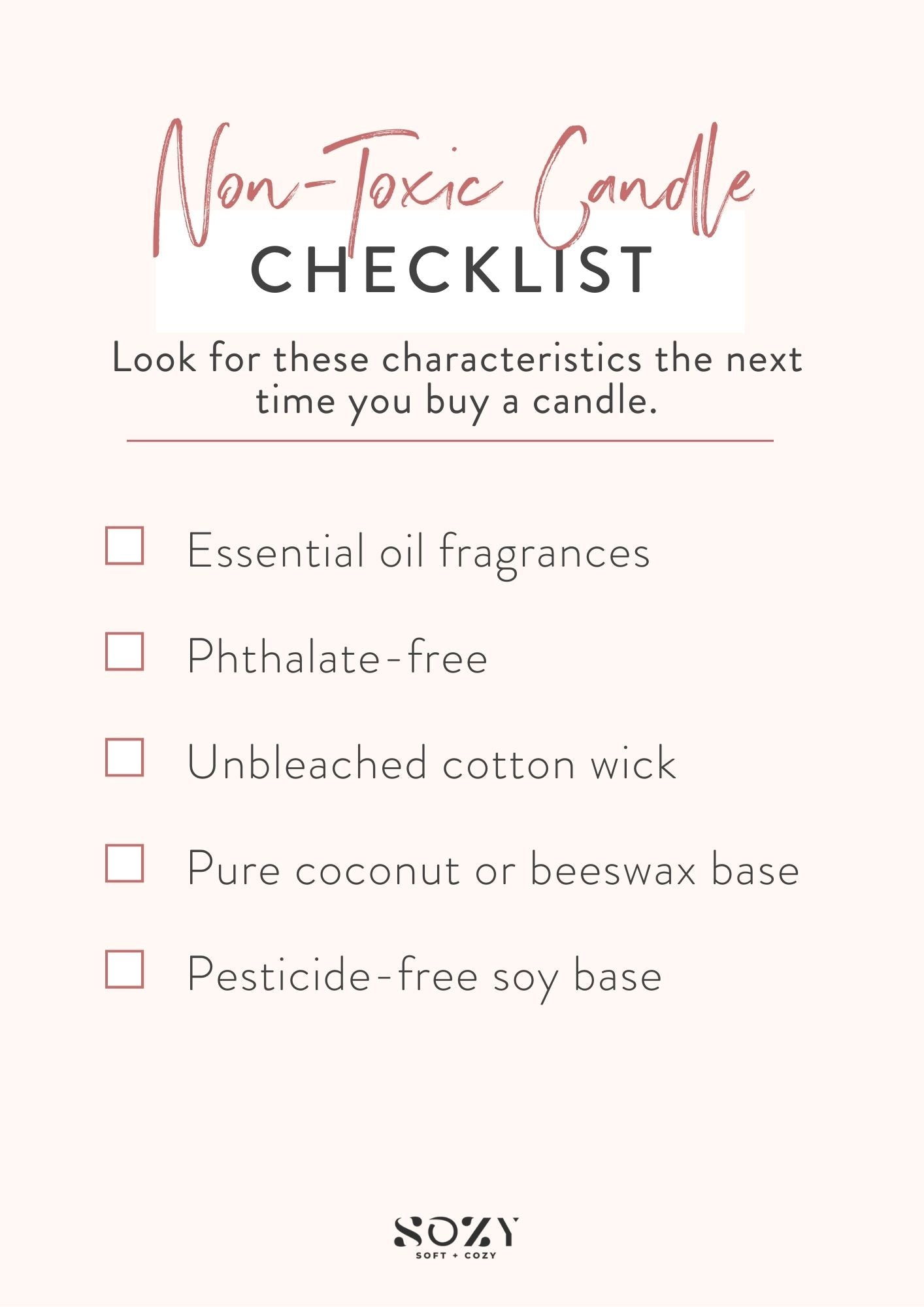 buyer's guide for non toxic candles