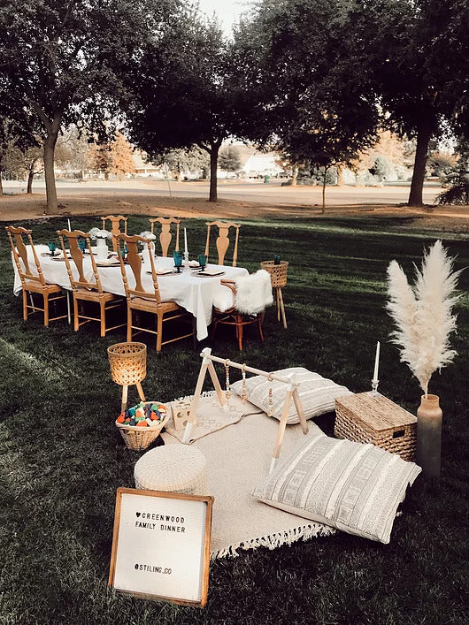 outdoor dinner party styling ideas