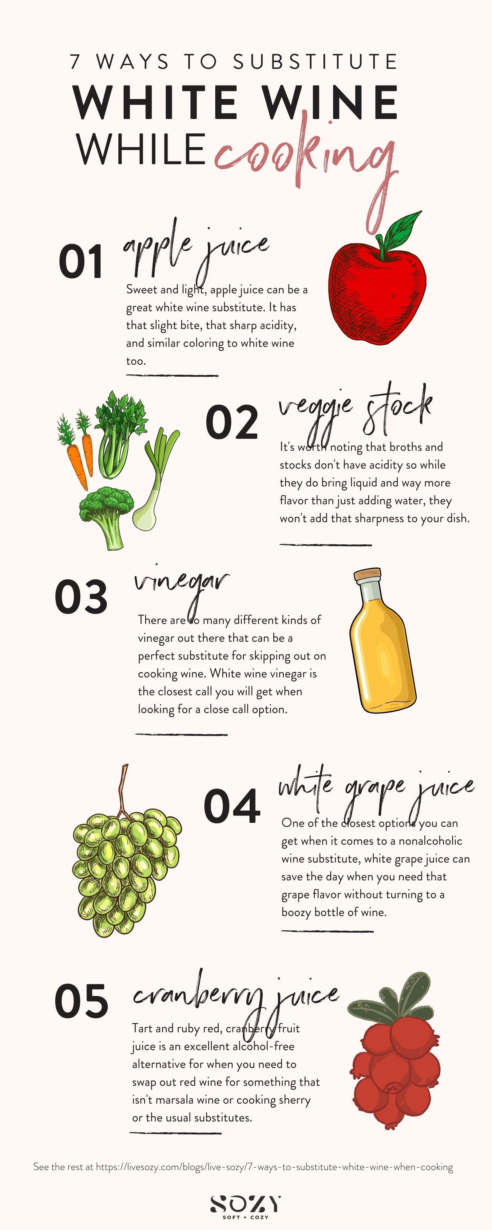 white wine substitutes for cooking