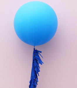 Blue Jumbo Balloon + Fringe