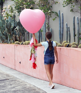 Jumbo Heart Balloon + Tassel