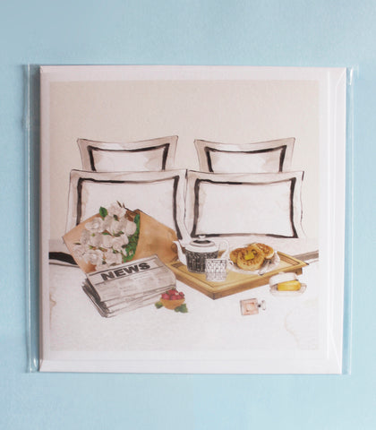 Breakfast in Bed card