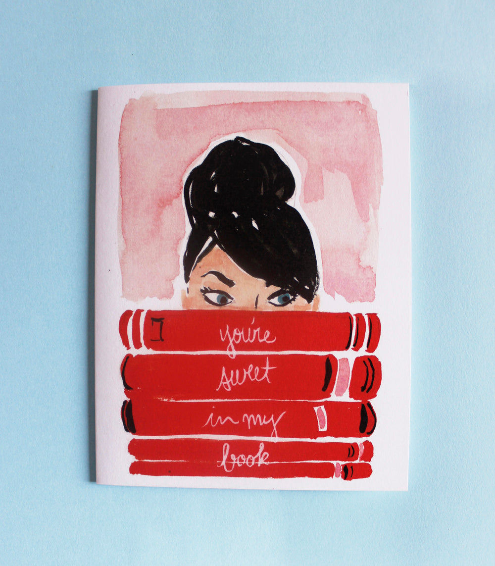 'Your Sweet in my Book' card