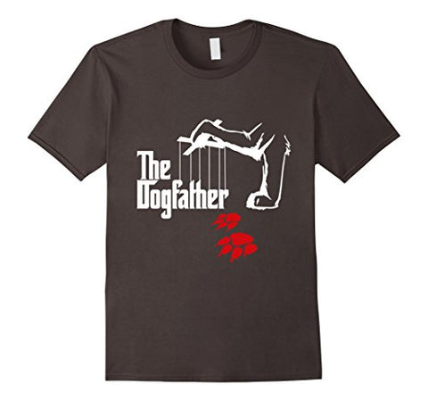 Mens The Dogfather Funny T-Shirt Cool Father's Day Gift XL Asphalt