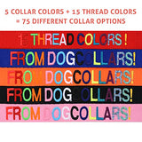 Personalized Dog Collar, Custom Collars Embroidered w/ Pet Name & Phone Number – Blue, Black, Pink, Red & Orange Collars for Boy & Girl Dogs; 4 Adjustable Sizes: XSmall, Small, Medium, & Large