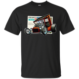 """The Uncertain-T"" Famous Hot Rod Tee Shirt design #9 on Black Tee"