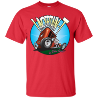 """The Uncertain-T"" Famous Hot Rod Tee Shirt design #6 on Red Tee"