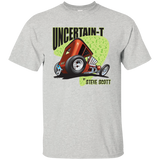 """The Uncertain-T"" Famous Hot Rod Tee Shirt design #8 on Ash Tee"