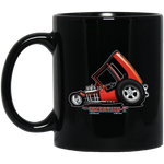 """The Uncertain-T"" Famous Hot Rod Design #03 on 11 oz. Black Mug"