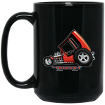 """The Uncertain-T"" Famous Hot Rod Design #03 on 15 oz. Black Mug"