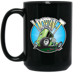"""The Uncertain-T"" Famous Hot Rod Design #05 on 15 oz. Black Mug"