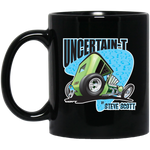 """The Uncertain-T"" Famous Hot Rod Design #07 on 11 oz. Black Mug"