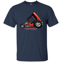 """The Uncertain-T"" Famous Hot Rod Tee Shirt design #3 on Navy Tee"