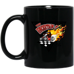 """The Uncertain-T"" Famous Hot Rod Design #14 on 11 oz. Black Mug"